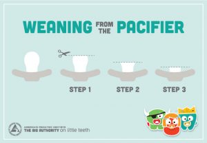 Steps for pacifier weaning